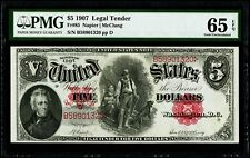 "$5 1907 Legal Tender "" Woodchopper "" Fr#85 Napier 