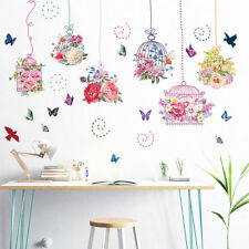 Large Removable Wall Flower Butterfly Stickers Bedroom Home Art Decals Decor