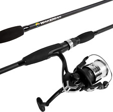 Wakeman Fishing Strike Series Spinning Rod and Reel, Blackout, Combo Length: 78