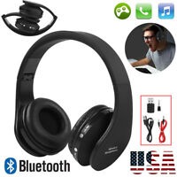 Wireless Gaming Headset Stereo Bluetooth Headphones with Microphone For PS4 US