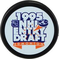 1995 NHL Draft Unsigned Draft Logo Hockey Puck Fanatics Authentic Certified