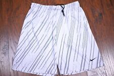 Nike Dri-Fit Fly Training Shorts White Black Print Men's Large L