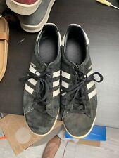 Adidas Originals Black Suede Campus Trainers Shoes 10