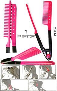 1 PC COMB FASHION V TYPE HAIR STRAIGHTENER COMB DIY SALON HAIRDRESSING STYLING