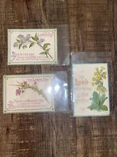 """1800's Marcus Ward & Co Victorian Greenery """"The Lords Day�"""