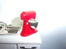 MIXER FOR YOUR DOLL HOUSE KITCHEN - RED  -   DOLL HOUSE MINIATURE