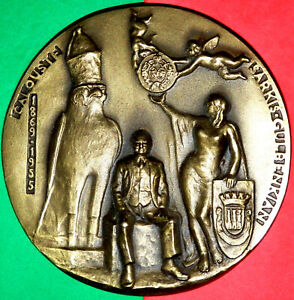 ARMENIAN CALOUSTE GULBENKIAN / PHILANTHROPE / 1869 - 55 /BRONZE MEDAL BY A.VISEU