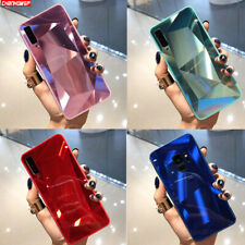 For Samsung Galaxy S10 A50 A70 Case Luxury Mirror Diamond Texture Glossy Cover