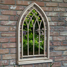 Garden Wall Mirror Church Style Outdoor Metal Vintage Framed Arched LED