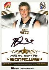 2007 Select AFL Supreme Draft Pick Signature DR8 Ben Reid (Collingwood)