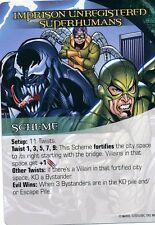 VENOM DOC OCK SCORPION Upper Deck Marvel Legendary SCHEME IMPRISON UNREGISTERED