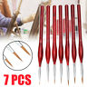 ✅ 7pcs Professional Sable Hair Paint Brush Set Detail Miniature Art Painting ✅