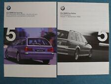 Prospekt BMW 5er E 39 Touring 520i,523i,528i,540i,525tds, 1.1998, 42 S. + Preise