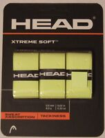 NEW Head Xtreme Soft Tennis Overgrip yellow 3 Pack Xtremesoft over grip