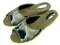 Helmut Trunte Damen Schuhe Hausschuhe Pantoffeln Pantolette 95140 grün 30mm