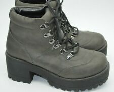 Stunning River Island Chunky Platform Lace-up Ankle Boots. Size 4 NEW!!