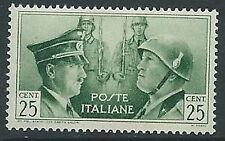 1941 REGNO FRATELLANZA D'ARMI NON EMESSO 25 CENT MNH ** - G229