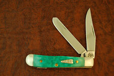 CASE XX USA JADE GREEN BONE TINY TRAPPER KNIE 62154 SS 2004 NICE (1485)