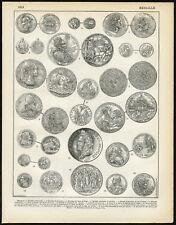 Antique Print-COMMEMORATIVE MEDALS-HISTORICAL-Larousse-1897