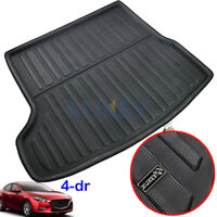 Fit For Mazda 3 Sedan 2014-2018 Rear Cargo Tray Trunk Floor Mat Boot Liner