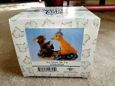 """Fitz & Floyd Charming Tails Figurine """"You Quack Me Up"""" # 89/105 Original Box"""