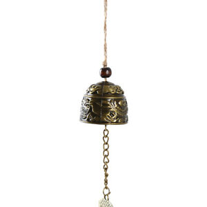 Room Metal Dragon Wind Chime Hanging Chinese Knot Feng Shui Decor Bell BA