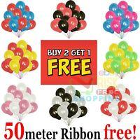"20 X PEARL LATEX METALLIC CHROME BALLOONS 10"" Helium Baloons Birthday Balons"