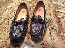 Salvatore Ferragamo Midnight Blue Monogram Canvas Loafers Rinata Size 8