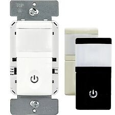 HMOS PIR Motion Sensor Light Switch Wall Detector with Infrared Occupancy White