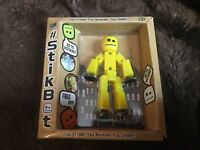 STIKBOT FIGURE SOLID YELLOW NEW BOXED