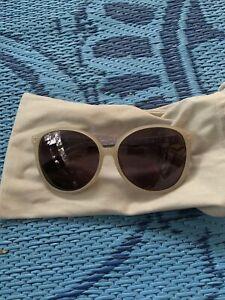 Linda Farrow Sunglasses Purple Snake Skin Leather Frames Tried on ONE TIME