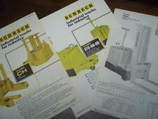 Shreck Industrial Truck Brochure Inserts~STG-NA-DD/CH/CHL~Specifications