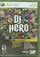 DJ Hero Microsoft Xbox 360 Game Authentic