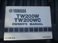 OEM Yamaha TW200W TW200WC Owners Manual LIT-11626-06-58
