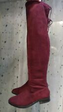 Charolette Russe above the knee burgundy red Boots Size 9