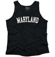 Maryland Athletic Student Gym Vacation MD  Adult Tank Top Sleeveless T-Shirt