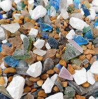 1/2 LB MARBLE ROCK COLOR MIX SEAGLASS BEACH SEA GLASS SEASHELL JEWELRY WEDDINGS