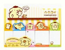 Sanrio Pompompurin Pudding chien Sticky Notes MEMOS Stick MARQUEURS set
