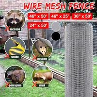 5 Sizes Wire Fence Mesh Cage Roll Garden Galvanized Pet Dog Rabit Fence US