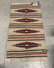Vintage Hand Woven Area Outdoor/Indoor Rug Size 52 x 29