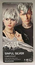 Splat Sinful Silver Complete Hair Dye Kit Semi-Permanent Vegan and Cruelty Free