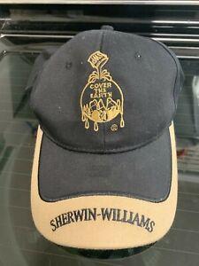 Sherwin Williams COVER THE EARTH SWP black/tan Cap Hat Adjustable