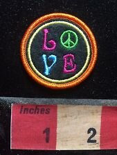 """COLORFUL LOVE & PEACE SIGN Small Hippie - Patch 1 5/8"""" - Fun Little Patch 76X2"""