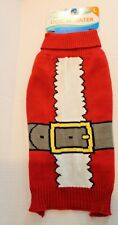 Throw Me a Bone Red Santa Suit Christmas Dog Sweater Size L Large for Dogs NEW