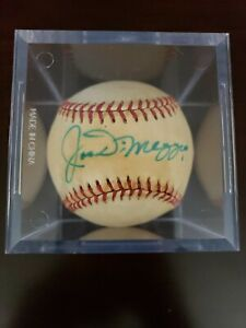 MLB Baseball Signed By Joe DiMaggio + Display Case NICE see pictures!