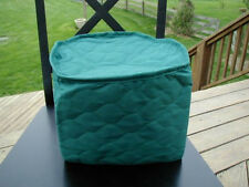 Hunter Green Appliance Cover 4 Qt round crockpot Solid Quilted Fabric mixer