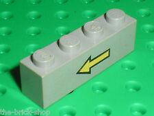 Brique avec fleche LEGO espace space OldGray arrow brick 3010p42 / set 6952