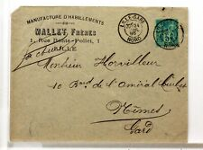 SA208   TYPE SAGE SUR LETTRE ANCIENNE OBLITERATION GARE  GARE  19°SIECLE