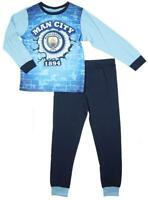 Boys Pyjamas Man City Official Pjs FC Football Club MCFC Kids 3 to 12 Years