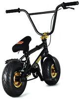 "FatBoy Pro Mini 10"" BMX Bicycle Fat Tire Freestyle Bike Black Hawk Gold NEW 2018"